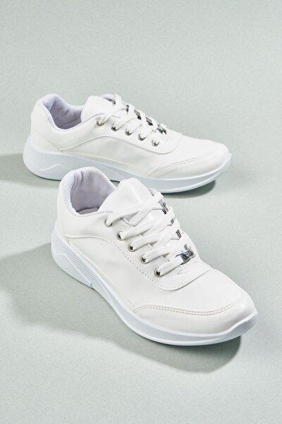 Beyaz Kadın Sneaker H0543888809