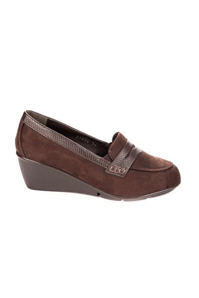 Kahve Kadın Dolgu Topuklu Ayakkabı
