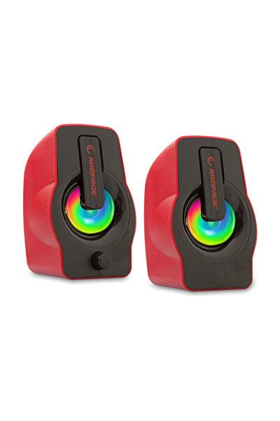 RMS-G7 FALSETTO 2.0 6 Watt 50Hz-20KHz Kırmızı Multimedia 5V USB Speaker