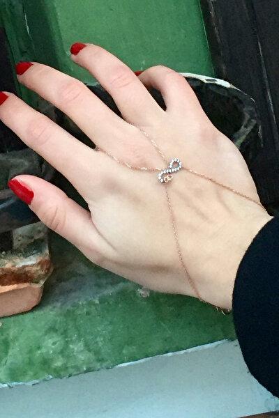 Kadın 925 Ayar Gümüş Kalpli Sonsuzluklu Şahmeran B020201