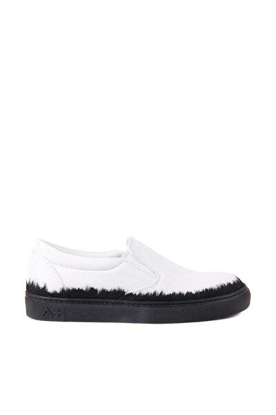Beyaz Erkek Casual Ayakkabı 101-2630-11473 R1 WHITE CANVAS-BLACK