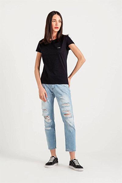 Kadın Siyah T-Shirt 12280210_SIYAH