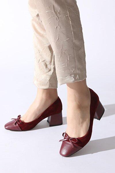 Bordo Kadın Klasik Topuklu Ayakkabı 11112014793-03