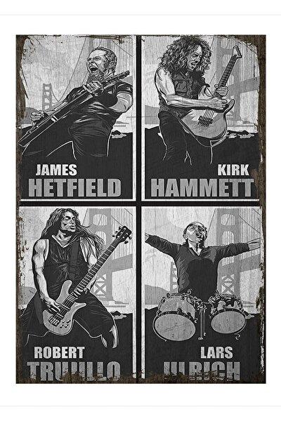 25cmX35cm Ahşap Tablo Metallica posteri