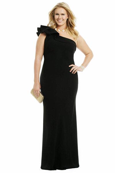 Kadın Siyah Abiye Elbise fw01754eb