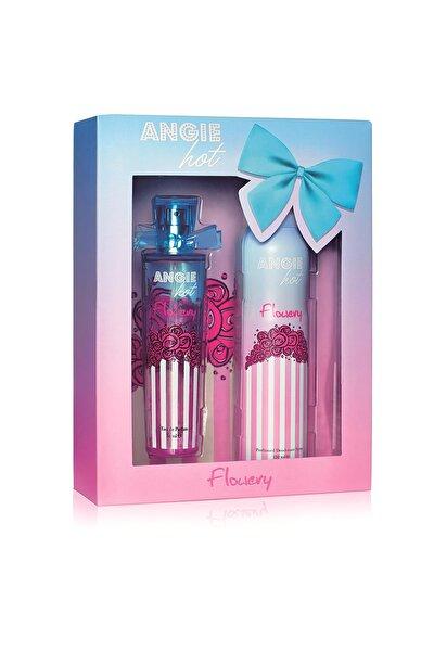 Angie Hot Flowery Edp 50 ml + Deodorant 150 ml Kadın Parfüm Seti 8691226601076