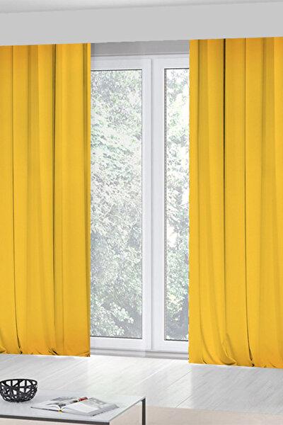 Sarı  Tek Kanat Fon Perde 140x270 Cm  Rfe422