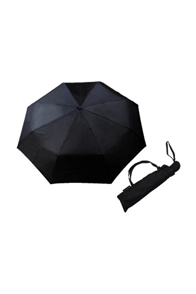 Siyah Tam Otomatik Açılır Kapanı Rüzgarda Kırılmayan Şemsiye