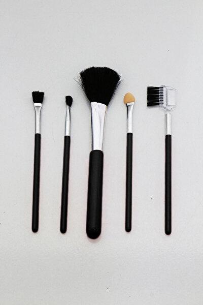 5 Parça Renkli Makyaj Fırça Seti