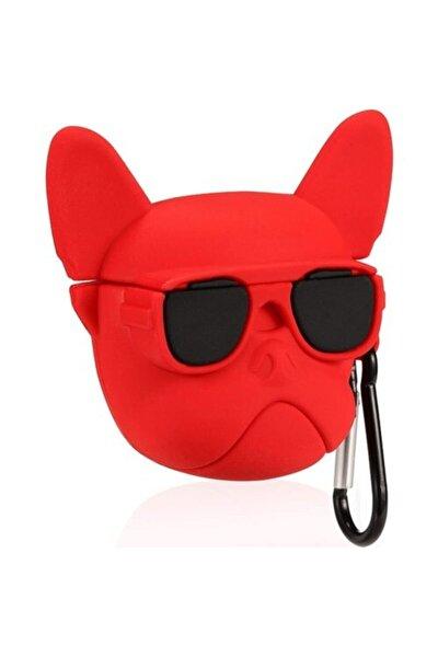 Kırmızı Buldog Sevimli Karakter Airpods Pro Uyumlu Kılıf
