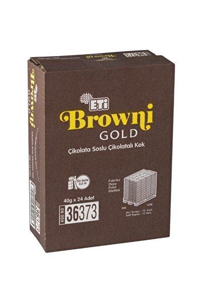Browni Gold Kakao Soslu Çikolatalı Kek 45 Gr (24 Adet)