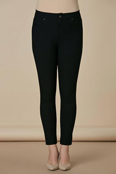 Kadın Siyah Pamuk Pantolon 1369P.