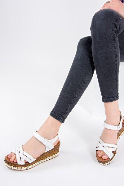 Beyaz Kadın Sandalet F288071409