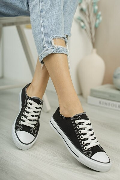 Unisex Siyah Beyaz Sneaker 0012101