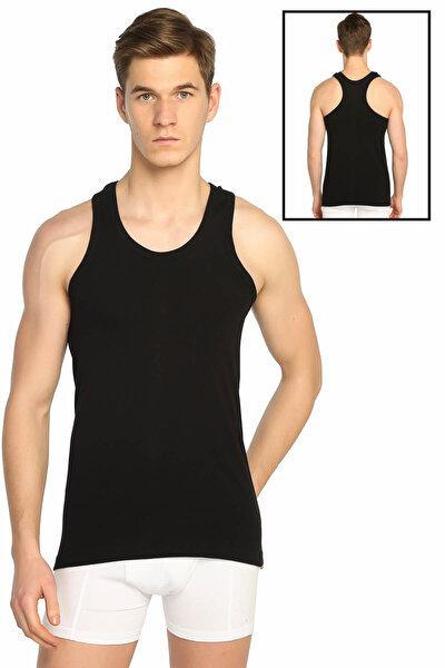 Erkek Siyah Erkek Ribana Spor Atlet ELF568T0118CCM
