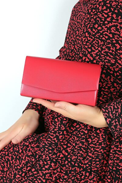 Kırmızı Cilt Kadın El Çantası C0201-18