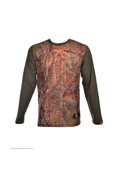 Orman Temalı Uzun Kollu Erkek T-Shirt