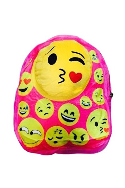 Emoji Peluş Çanta Pembe
