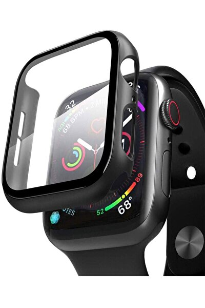 Apple Watch 42mm Tpu Çerçeveli Ekran Koruyuculu Ön Çerçeve Kılıf Hediyeli