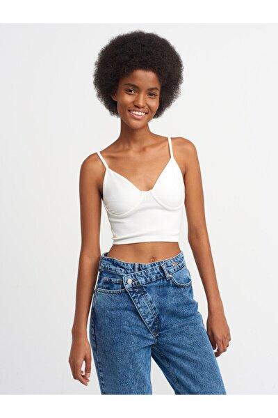 Kadın Beyaz Bluz 3647