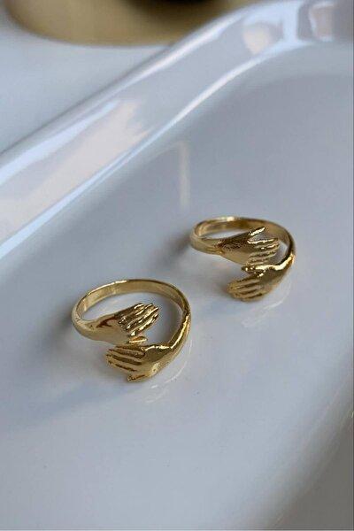 Kadın Altın Sarılan El Yüzük 1 adet