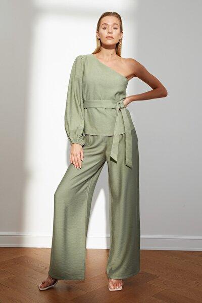 Yeşil Tek Omuz Bluz TWOSS21BZ1868