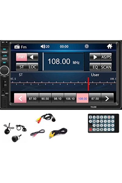 7 Inc Double Oto Teyp Bluetooth Usb Sd Kart Mirrorlink Park Kamera Hediyeli