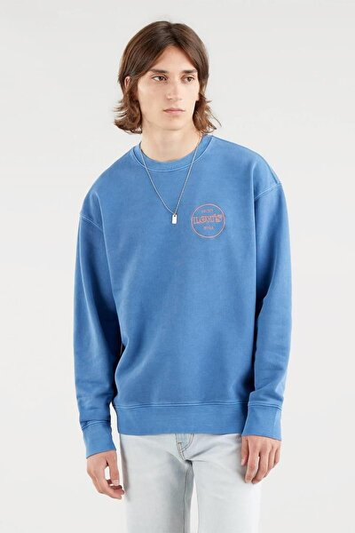 Erkek Mavi Sweatshirt - 38712-0022