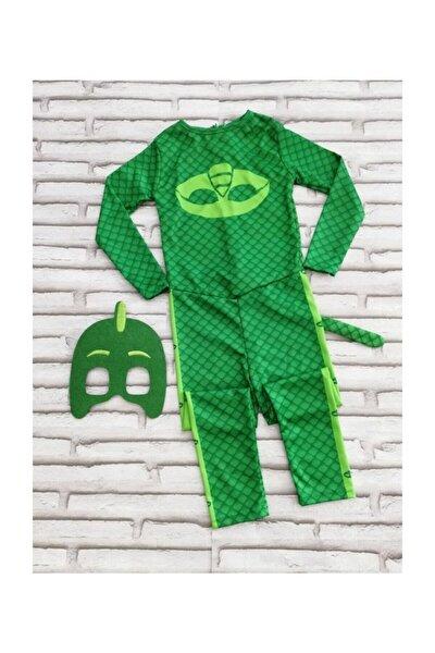 Pijamaskeliler (Pjmasks) Kertenkele Çocuk Kostümü-yeşil Gekko Kostümü