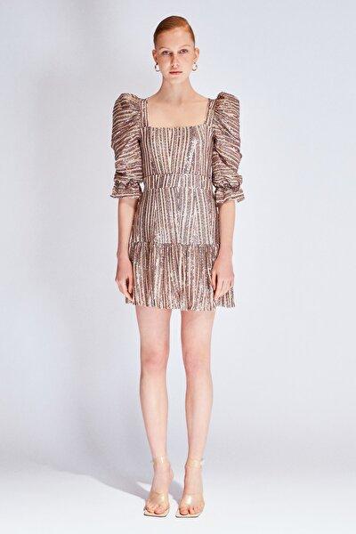 Çok Renkli Payetli Elbise TDPSS20EL0143