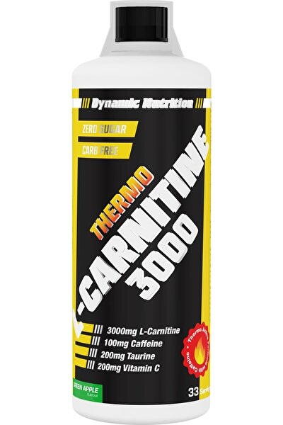 Dynamic Thermo L-carnitine 3000 Mg 1000 ml (Yeşil Elma Aromalı)