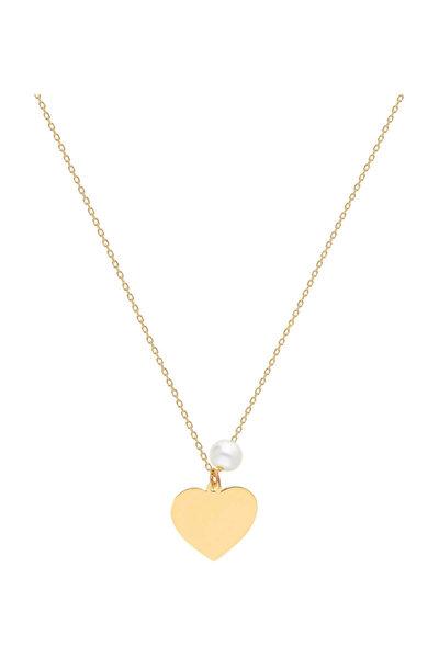Kadın Altın İnci Kalp Kolye SV0099