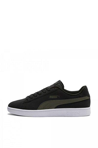 Puma Smash V2 Buck Siyah Haki Beyaz Erkek Sneaker Ayakkabı 100352142