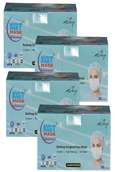 Mask 3 Katlı Cerrahi Maske 50 Li X 4 Adet (200 Adet)