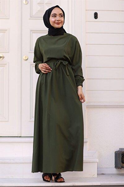 Mevlana Yarasa Kol Elbise - Haki