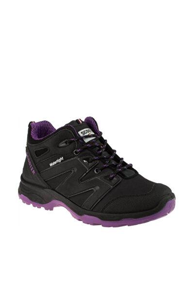 Kadın Tekstil Siyah Mor Casual Ayakkabı - 186 5223G