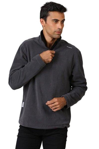 Erkek Gri Fuga Bay Mikro Polar Sweater