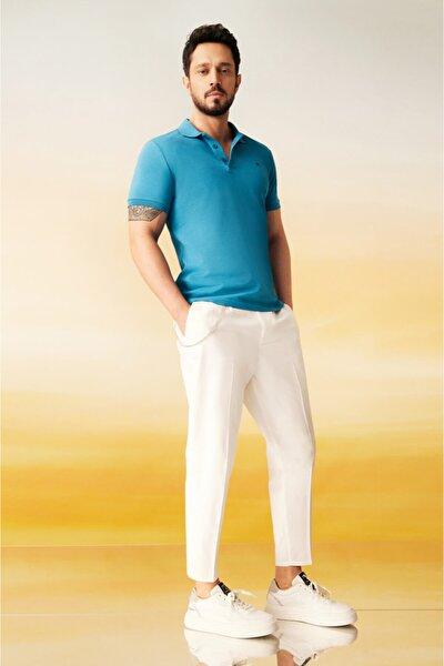Erkek Koyu Mavi Polo Yaka Düz T-shirt E001004