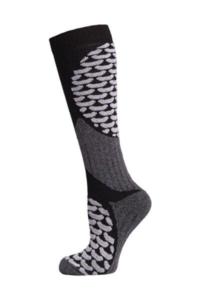 Ski & Snowboard Erkek Kayak Çorabı Siyah/Gri