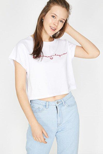 Kadın Beyaz T-Shirt 9YAL18382IK