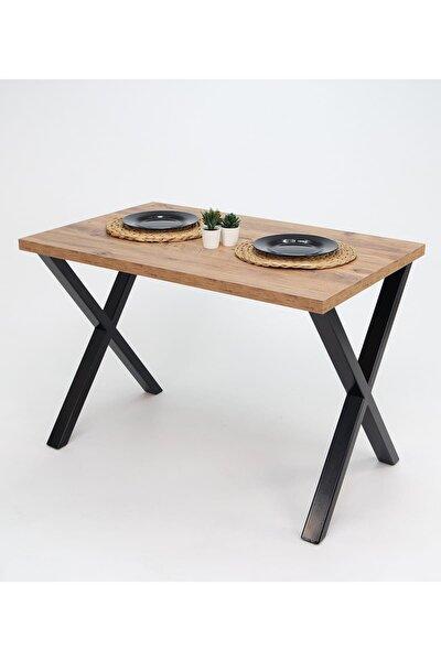 Woody Metal Ayaklı Çam Mutfak Masası