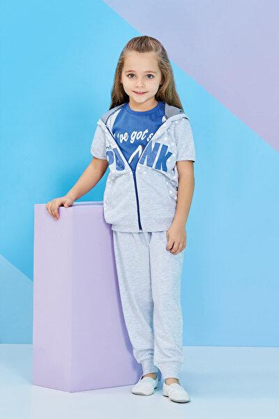 Kız Çocuk Yelekli Pijama Takımı