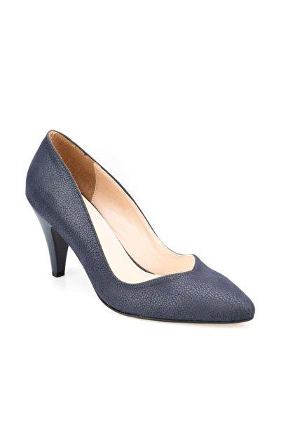 91.307279dz Lacivert Kadın Topuklu Ayakkabı 100376056