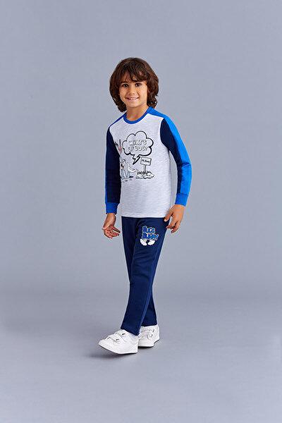 Bugs Bunny Lisanslı Erkek Çocuk Eşofman Takımı Açık Gri