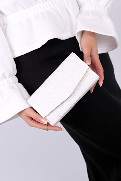 Beyaz Dantel Kadın El Çantası C0201-18