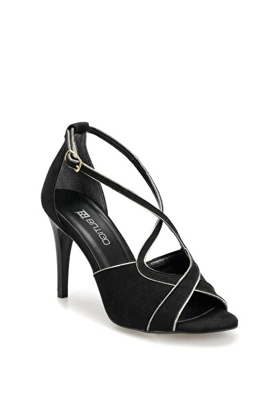 19s-085 Siyah Kadın Topuklu Ayakkabı 100371360