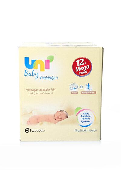 Islak Pamuk Mendil Yeni Doğan Cotton Natural 12'Li Paket (480 Adet) 8692190300620P /