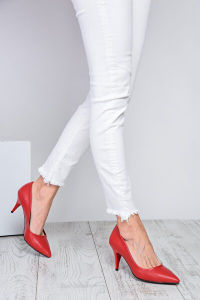 Kırmızı Kadın Topuklu Ayakkabı 18Y 11905