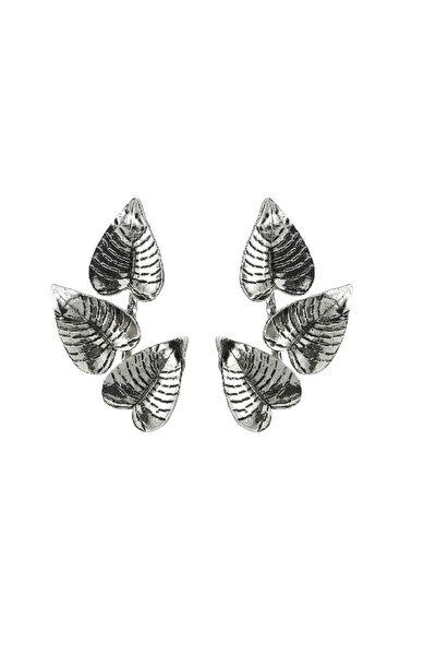 Kadın Gümüş Yapraklı Küpe 2318