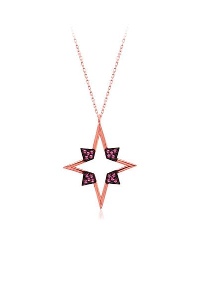 925 Ayar Gümüş Kutup Yıldızı Kolye SK1113